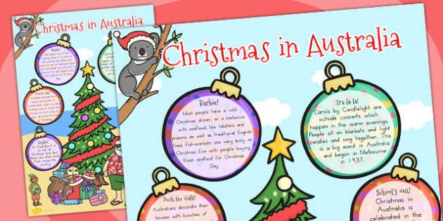 Christmas Large Information Poster (Australia) - posters, display