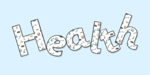 'Health' Display Lettering - health, health lettering, health display, health display letters, health and safety, health living, healthy eating, ks2 science