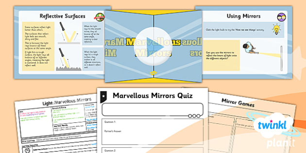 Science: Light: Marvellous Mirrors Year 3 Lesson Pack 3