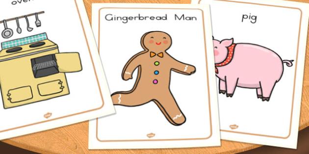 The Gingerbread Man Display Posters - australia, gingerbread man