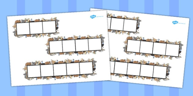Animal Themed Phoneme Frames - animal, phoneme, literacy, frames