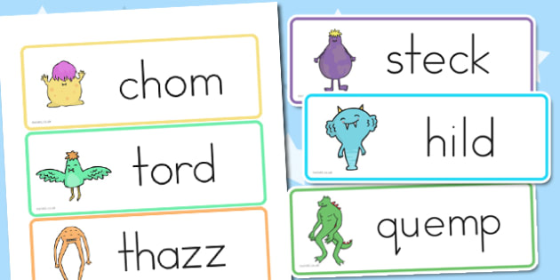 Alien Nonsense Sorting Word Cards - australia, nonsense, alien