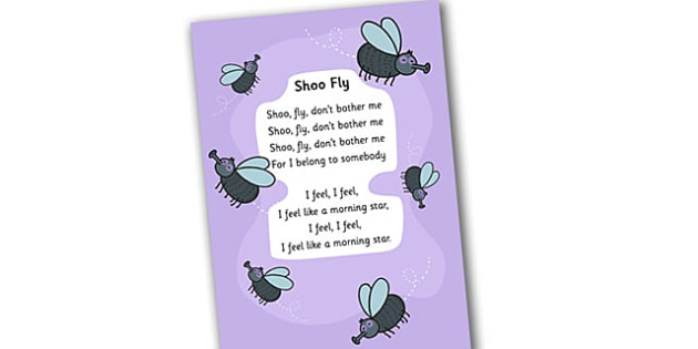 Shoo Fly Display Poster - display poster, display, shoo fly display poster, shoo fly don't bother me, shoo fly poster, fly poster, minibeast poster, insect posters, posters, A4 posters, poster, classroom display posters