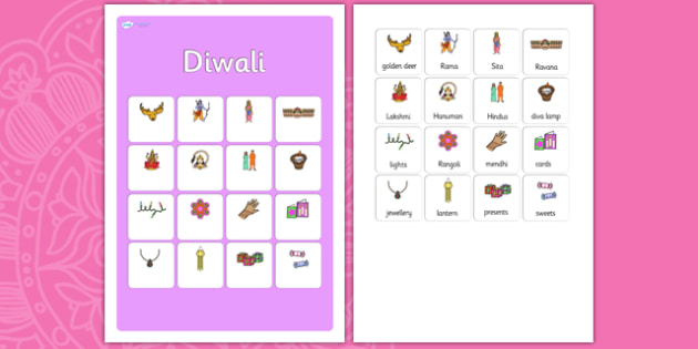 Diwali Vocabulary Matching Mat -diwali,  vocabulary, matching mat, word mat, vocabulary mat, vocab mat, keyword, key word mat, key words, key-words