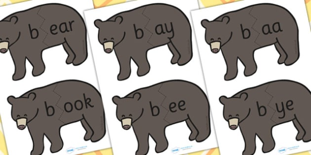b Sound And Vowel Animal Jigsaw - sounds, vowels, jigsaw, animals