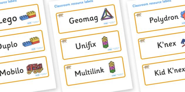 Jaguar Themed Editable Construction Area Resource Labels - Themed Construction resource labels, Label template, Resource Label, Name Labels, Editable Labels, Drawer Labels, KS1 Labels, Foundation Labels, Foundation Stage Labels
