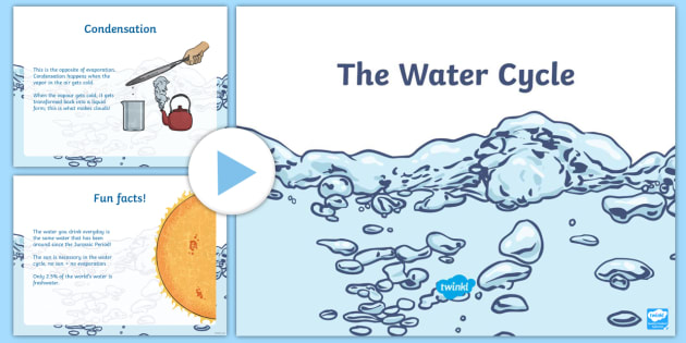 The Water Cycle PowerPoint - All About Water, water, water cycle, cycle, powerpoint, accumulation, precipitation, evaporation, co