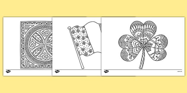 Ireland Mindfulness Colouring Sheets - ireland, mindfulness, colouring sheets, colour, colouring