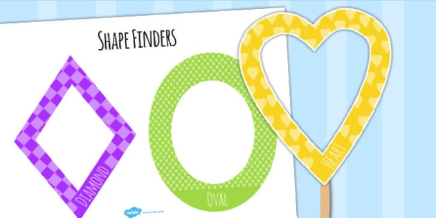 Shape Finders - numeracy, shapes, finding shapes, visual aid