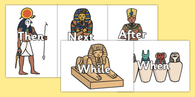 Ancient Egyptian Themed Sentence Openers - sentence openers, sentence, openers, egyptian, images
