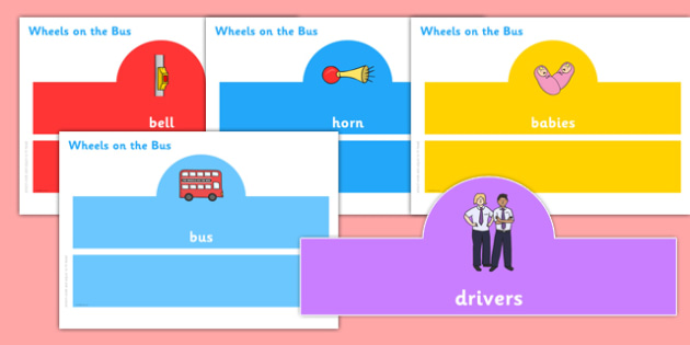 The Wheels on the Bus Role Play Headbands - the wheels on the bus, role play, headbands, nursery rhyme