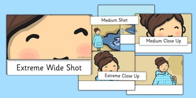 Camera Shots Sorting Activity - camera shots, activity, sorting, sort, camera, shots
