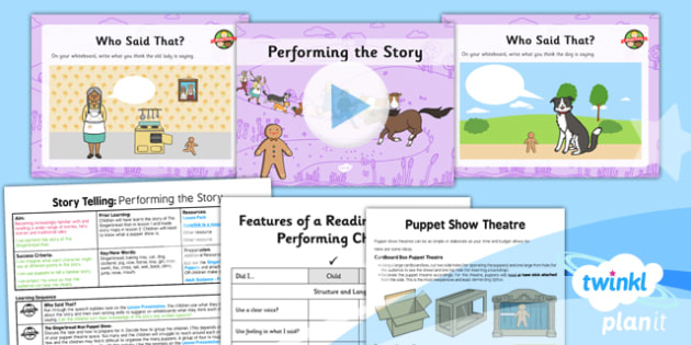 PlanIt Y2 The Gingerbread Man Lesson Pack Storytelling (3) - traditional stories, traditional tales, pie corbett, oral