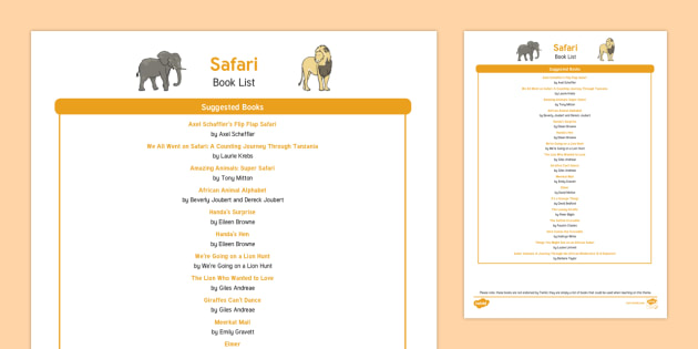 Safari Book List
