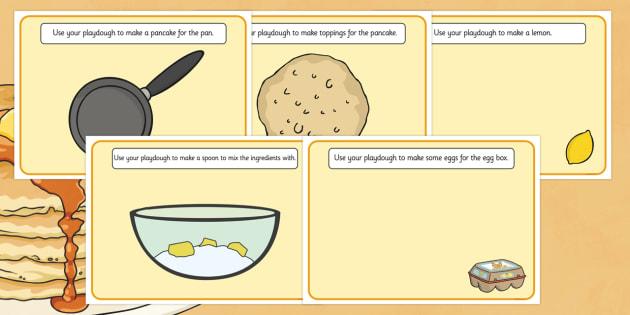 Pancake Playdough Mats - pancake, fine motor skills, playdough