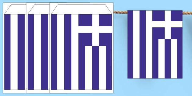 Greece Flag Bunting - greece flag, greece, flag, bunting, display bunting, display, country
