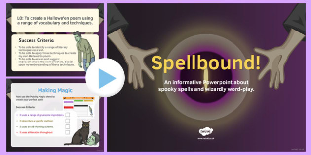 Spellbound PowerPoint - spellbound, powerpoint, shakespeare, ks3