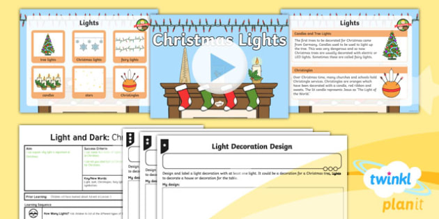 RE: Light and Dark: Christmas Lights (Christianity) Year 2 Lesson Pack 2