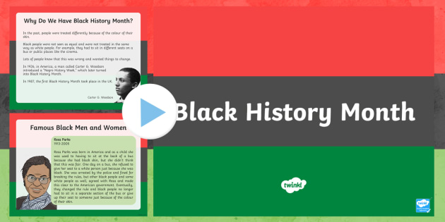 Black History Month Informative PowerPoint - black history month, powerpoint