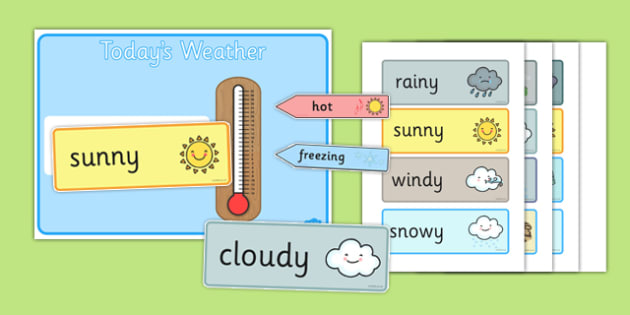 Weather and Temperature Chart - weather, temperature, chart, season