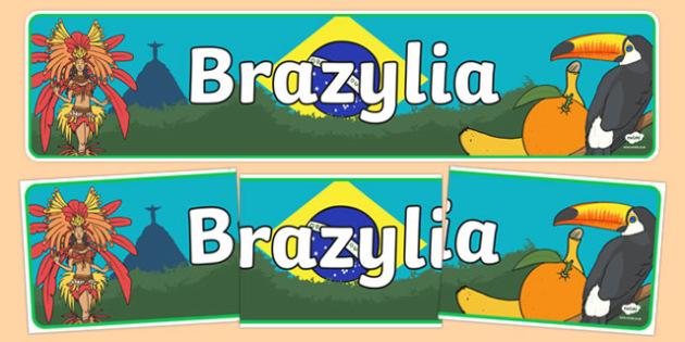 Banner Brazylia po polsku