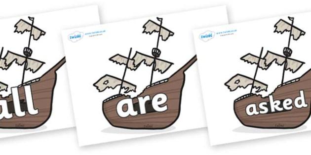 Tricky Words on Shipwrecks - Tricky words, DfES Letters and Sounds, Letters and sounds, display, words