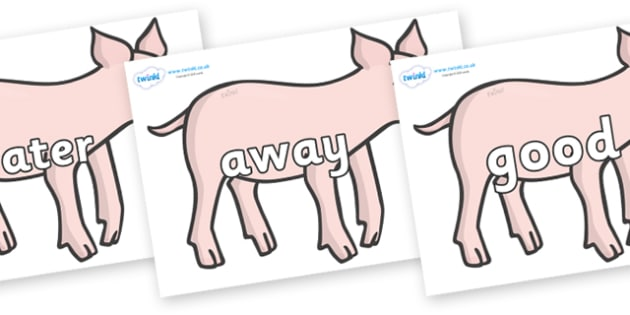 Next 200 Common Words on Piglets - Next 200 Common Words on  - DfES Letters and Sounds, Letters and Sounds, Letters and sounds words, Common words, 200 common words