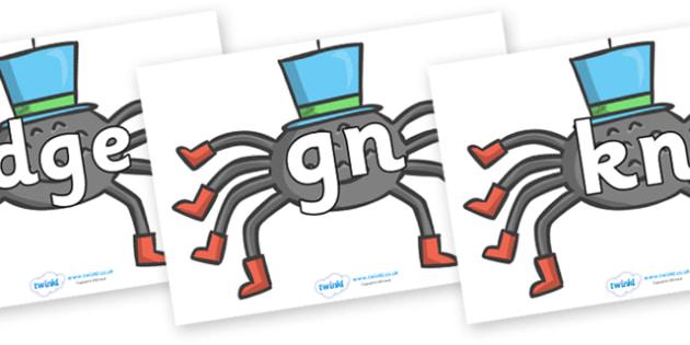 Silent Letters on Spiders - Silent Letters, silent letter, letter blend, consonant, consonants, digraph, trigraph, A-Z letters, literacy, alphabet, letters, alternative sounds