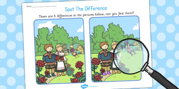 The Snow Queen Spot the Difference Activity - spot, difference