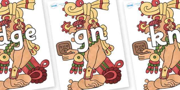Silent Letters on Kinich Ajaw - Silent Letters, silent letter, letter blend, consonant, consonants, digraph, trigraph, A-Z letters, literacy, alphabet, letters, alternative sounds