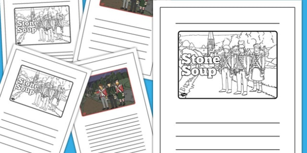 Stone Soup Story Writing Frames - stone soup, story, writing