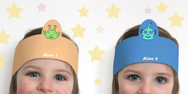 Alien Role Play Headbands - alien, role play, headbands, sci-fi, space