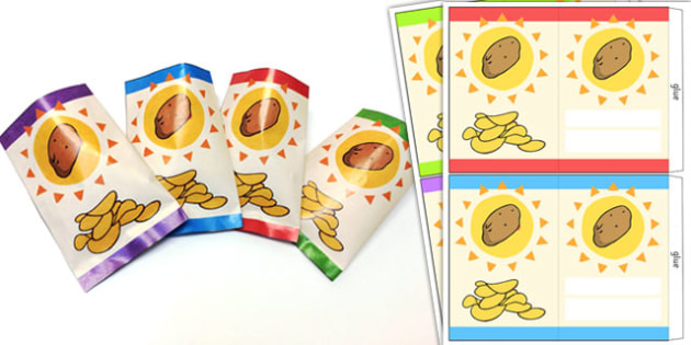 Roleplay Supermarket Crisp Packets - shops, role play, props