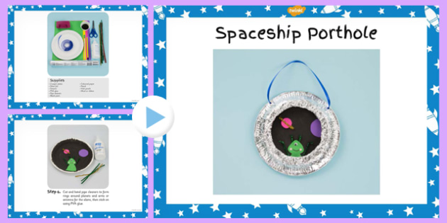 Spaceship Porthole Craft Instructions PowerPoint - spaceships