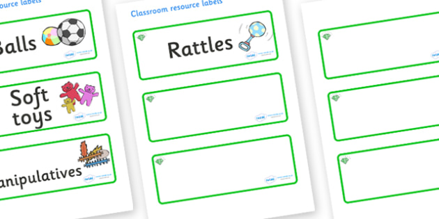 Emerald Themed Editable Additional Resource Labels - Themed Label template, Resource Label, Name Labels, Editable Labels, Drawer Labels, KS1 Labels, Foundation Labels, Foundation Stage Labels, Teaching Labels, Resource Labels, Tray Labels, Printable