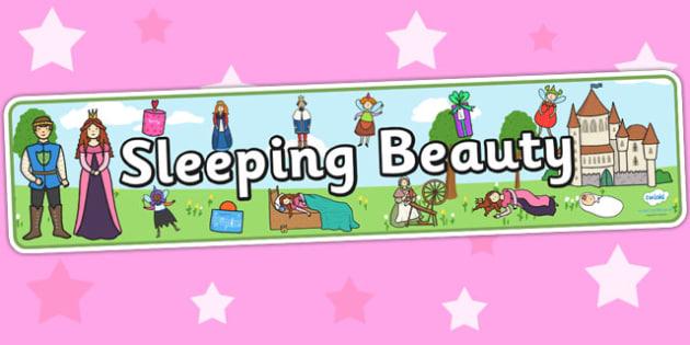 Sleeping Beauty Display Banner - sleeping beauty, traditional tales, sleeping beauty banner, display, banner, display banner, display header, themed banner