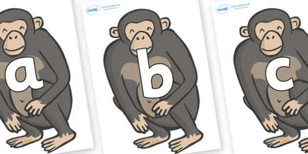 Phoneme Set on Chimpanzees - Phoneme set, phonemes, phoneme, Letters and Sounds, DfES, display, Phase 1, Phase 2, Phase 3, Phase 5, Foundation, Literacy
