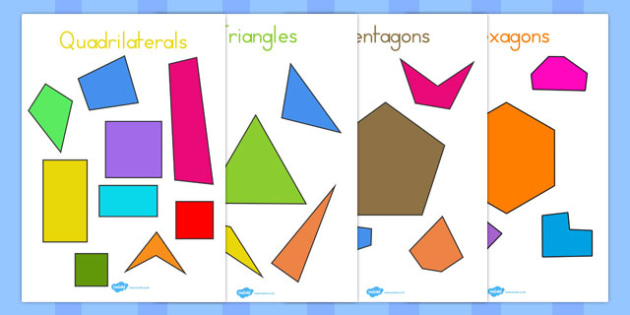 Regular and Irregular 2D Shapes Display Posters - australia