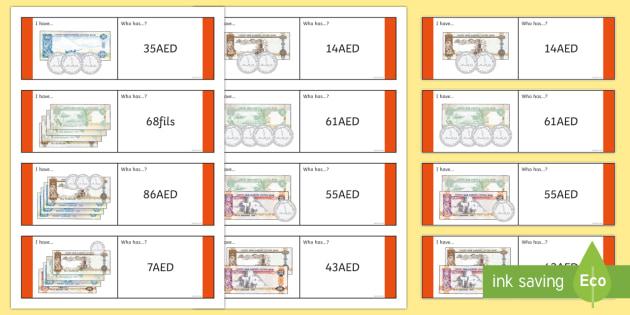 Adding Money Loop Cards - UAE Maths Resources