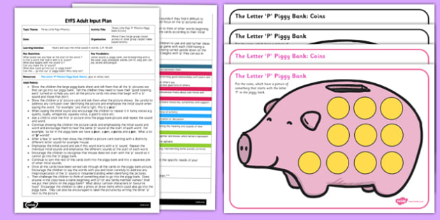Three Little Pig Letter Phonic Activity EYFS Adult Input Plan Pack