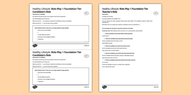 Vida sana 1 Role Play Juego de rol Foundation Tier - Healthy, Lifestyle, Speaking, Role-Play, Vida, sana, foundation