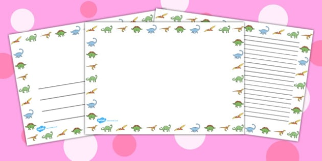 Landscape Dinosaur Page Borders - dinosaur, page borders, borders