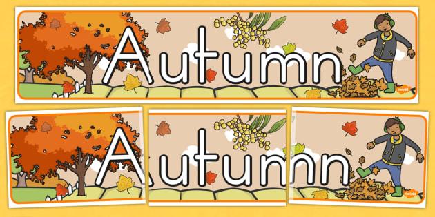 Autumn Display Banner - seasons, weather, display header, display