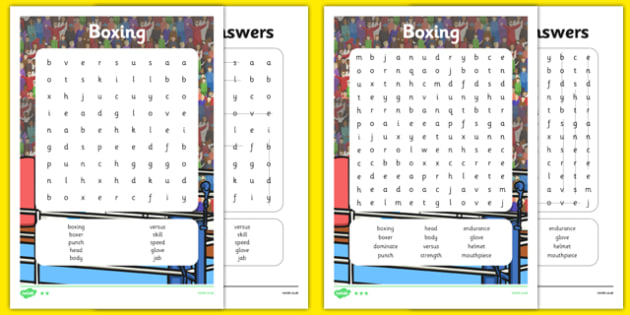 The Olympics Boxing Differentiated Word Search - the olympics, rio olympics, 2016 olympics, rio 2016, boxing, word search