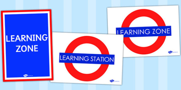 Learning Zone Display Posters - learning zone, display posters