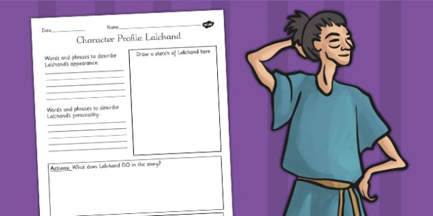 The Firework Maker's Daughter Lalchand Character Profile Sheet