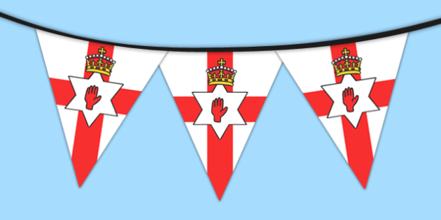 Northern Ireland Flag Bunting - northern, ireland, flag, bunting