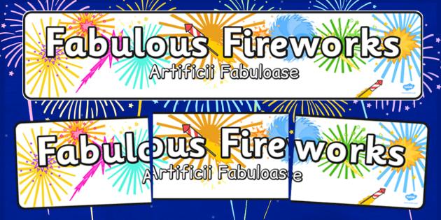 Fabulous Fireworks Display Banner Romanian Translation - romanian