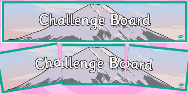 Challenge Board Display Banner - challenge, board, display banner