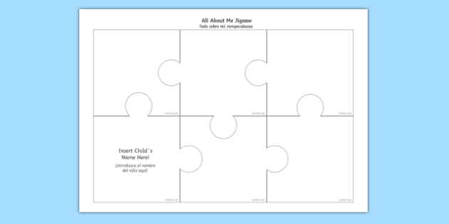 All About Me Jigsaw English/Spanish